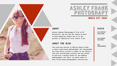 Grey & Red Triangles Photography Media Kit  Blogger