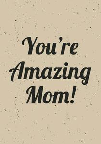 Beige Mothers Day Card Carte de Fête des mères