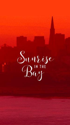 Red Sunrise Bay San Francisco Phone Wallpaper Wallpaper