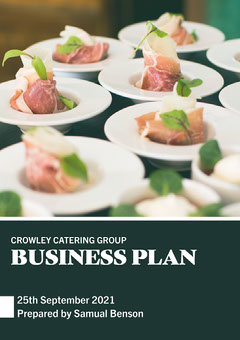 Green & White Food Image Business Plan Catering