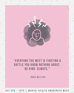 Mental Health Awareness Quote Instagram Portrait Health Posters
