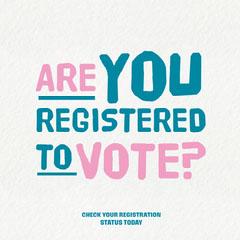 Textured Background Black & Pink Voting Instagram, Square Election