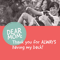 Grey, Red and Blue Mothers Day Instagram Post  Thank You Poster