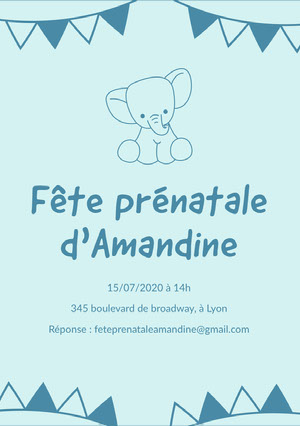 baby elephant baby shower invitations  Carte virtuelle