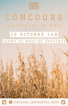 corn maze contest event poster Affiche