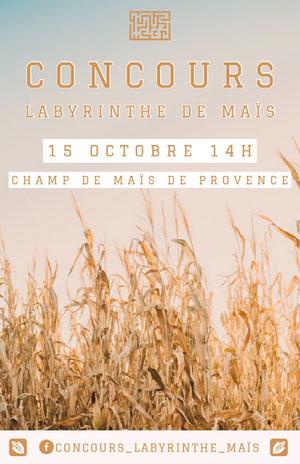 corn maze contest event poster Affiche événementielle