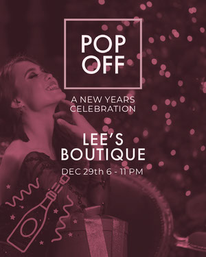 Violet and White Boutique Promotion Happy New Year