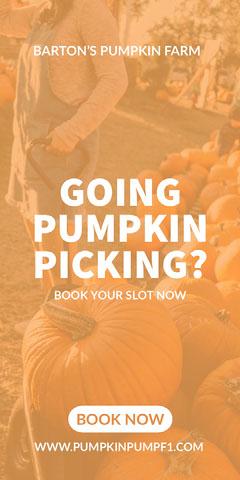 GOING PUMPKIN PICKING? Fall