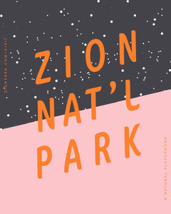 Zion National Park Travel and Tourism Instagram Portrait Ad Travel Agency