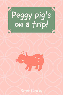Green and Pink Pig Children Book Cover Buchumschlag