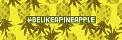 Yellow Pineapple Inspirational Twitter Header with Hashtag Fruit