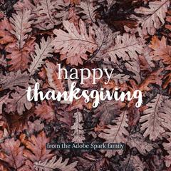Brown Autumn Happy Thanksgiving Instagram Post Leaf
