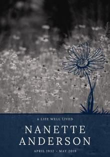 NANETTE ANDERSON Programa funerario