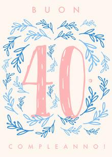 forty birthday cards  Biglietto di compleanno