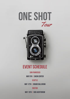 Grey and Black Event Schedule Program Music Tour