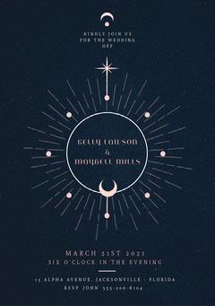 Blue Starry Sky Wedding Invite Sky
