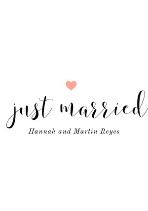 just married Anuncio de boda