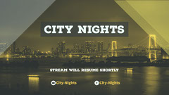 Yellow and White City Nights Banner Stream