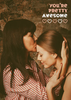 Loving Image You're Awesome Card Couple