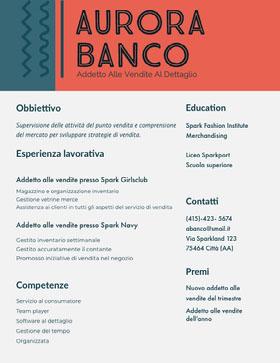 Aurora Banco Curriculum professionale
