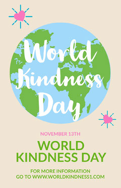 Light, Lright Toned World Kindness Day Poster Earth