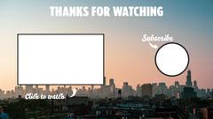 Cityscape Youtube Outro Sunset