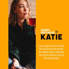 Yellow Katie Birthday IG Square Tea Time