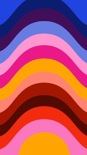 Colorful Stripes Smart Phone Wallpaper Zoom-Hintergründe