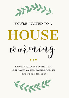 HOUSE  Invitation
