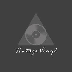 Black & Grey Vinyl In Triangle Logo Square  Grey