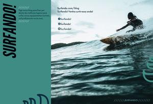 surfs up travel brochures  Folheto dobrável