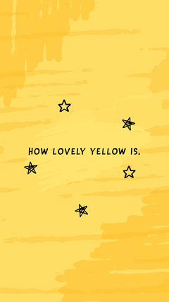 Yellow Phone Wallpaper Stars