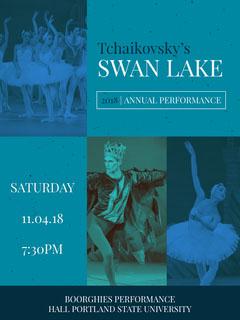 Blue and White Swan Lake Promotion Lake