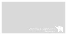 White, Minimalistic Gift Exchange Ad Facebook Banner Facebook Cover
