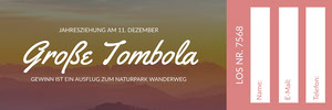 Große Tombola Eintrittskarte