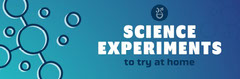 Blue Gradient Science Icons Web Banner Science