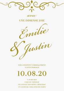 with great joy wedding cards Carte de remerciement de mariage