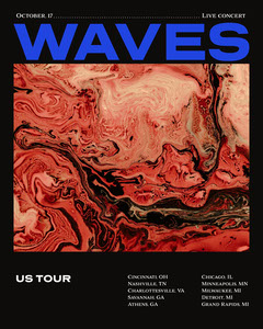 Band Concert Tour Instagram Portrait Graphic Wave