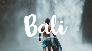 Blue and White Bali Travel Video Cover You Tube Banner de YouTube