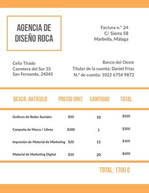 design agency invoice  Factura
