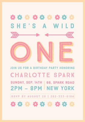 Birthday Party Invitation Birthday Invitation (Girl)