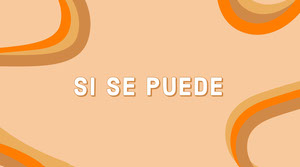 Orange Hispanic Phrase Twitter Post Graphic Cartel motivador