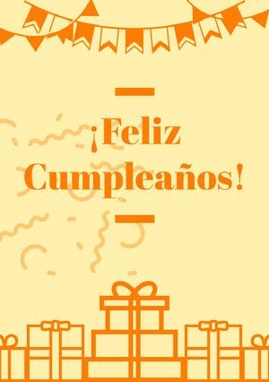 orange and light yellow birthday cards  Invitación de cumpleaños