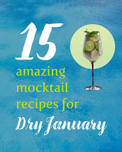 Blue Mocktail Recipes Dry January Instagram Portrait  Cocktails
