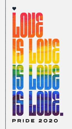 Rainbow Flag Love is Love Poster Pride