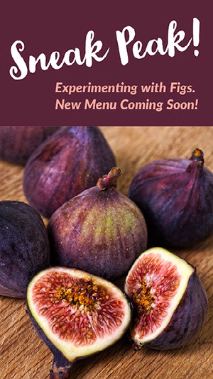 Purple and White Figs Sneak Peak Menu Instagram Story Coming Soon Post