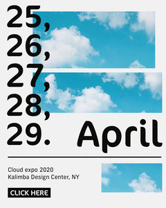 Black and Blue Clouds Expo Instagram Portrait Sky