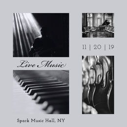 Live Music Photo Collage