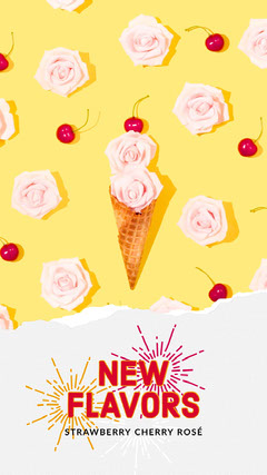 Yellow and Pink Pastel Colors Ice Cream Offer Instagram Story Ice Cream Social Flyer