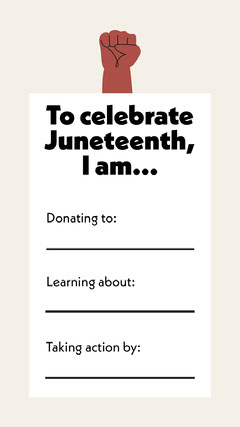 Juneteenth Celebration Action Items Fill-in-the-Blank Instagram Story Celebration